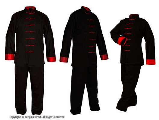 Poly/Cotton Uniforms with Red Trim